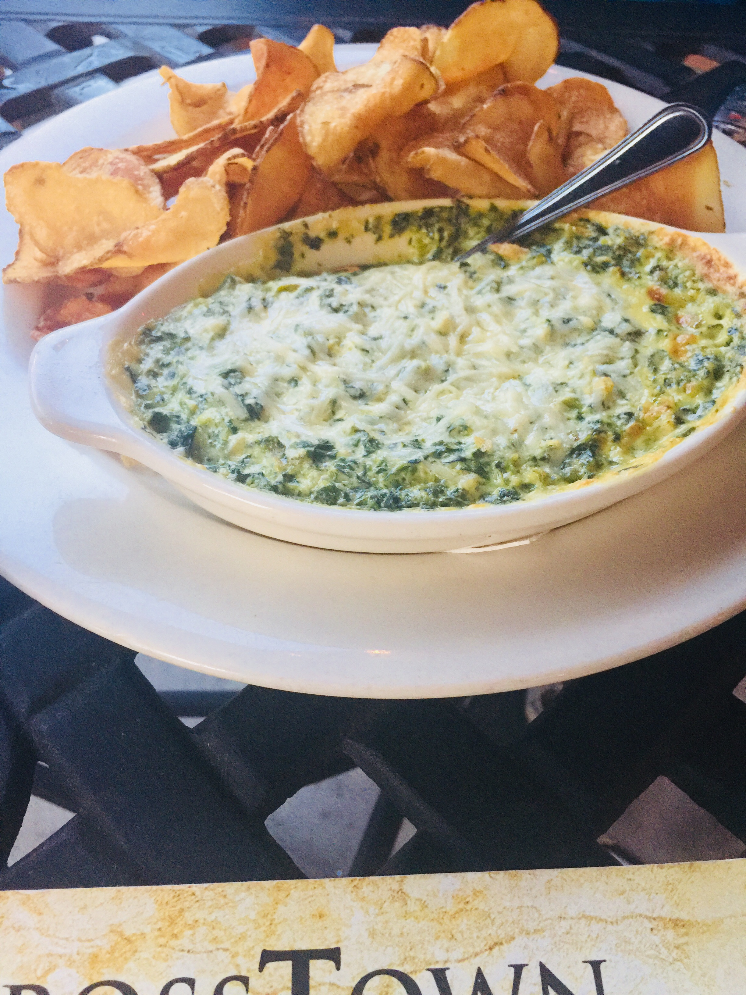 Cheesy Spinach Dip Crosstown Grille Eats For Me